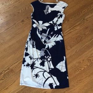 Ralph Lauren blue and white floral dress